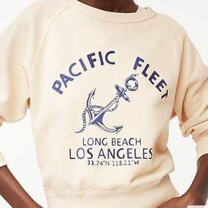 J. Crew Garment Dyed Pacific Coast Sweatshirt NWT